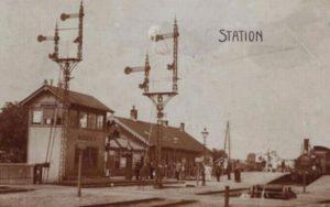 Station Woerden in 1890.