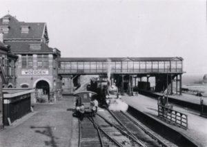 Station Woerden in de jaren dertig van de twintigste eeuw.