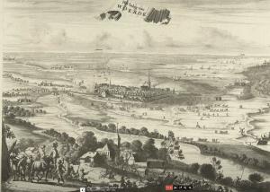 Beleg van Woerden, 1576, Coenraet Decker (toegeschreven aan), 1701 – 1703. Bron: Rijksmuseum.